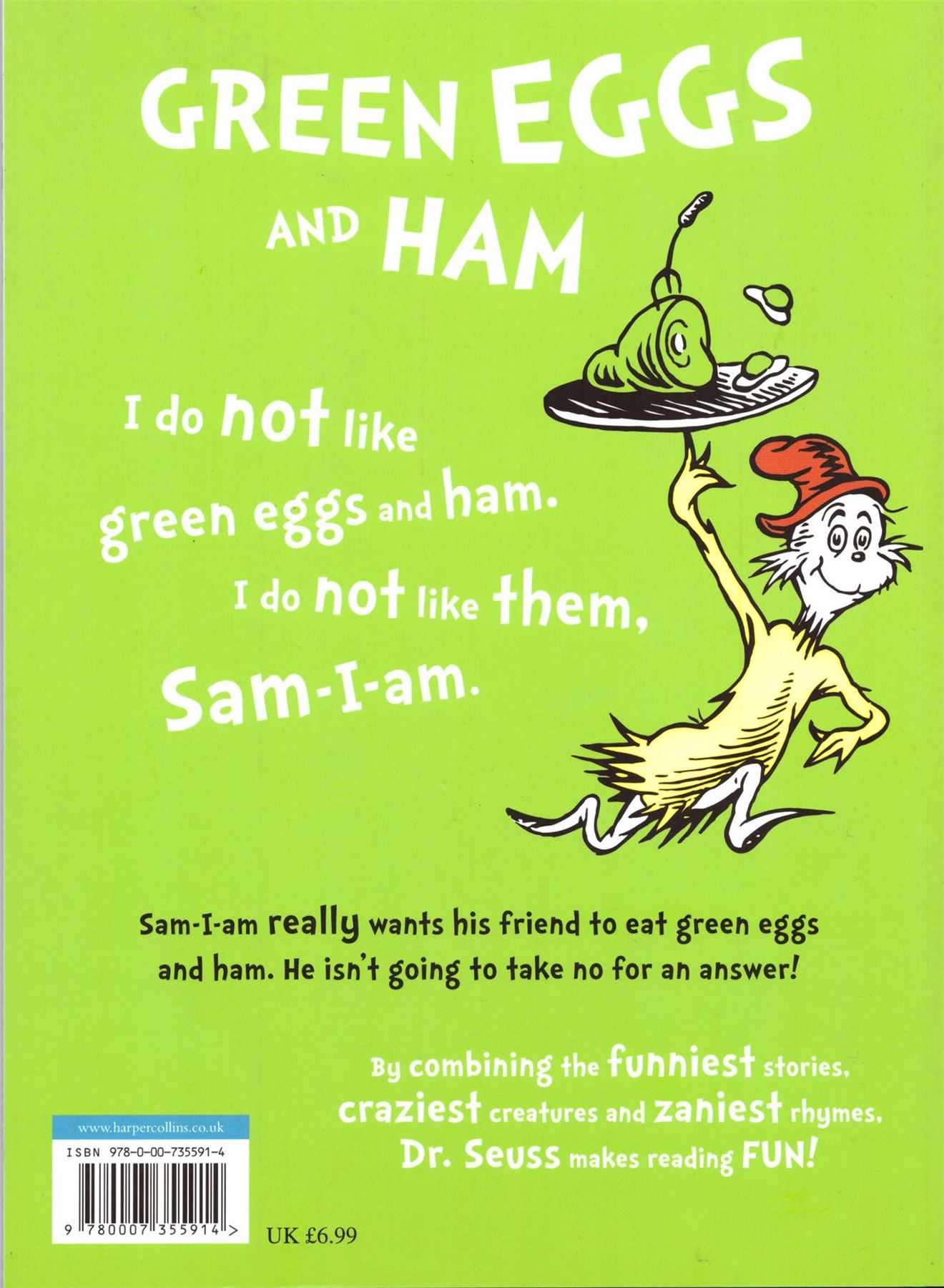 Green Eggs Amp Ham By Dr Seuss Paperback Picture Story Rhyme Book