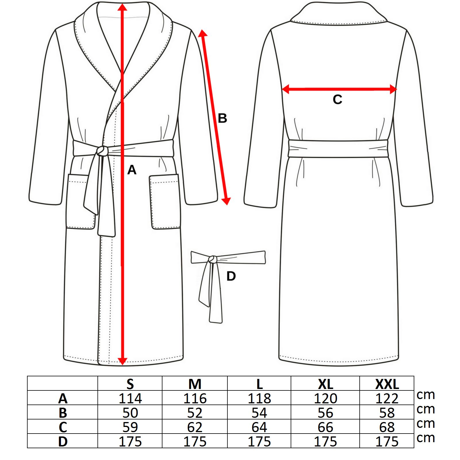100% Cotton Dressing Gown Terry Towelling Shawl Collar
