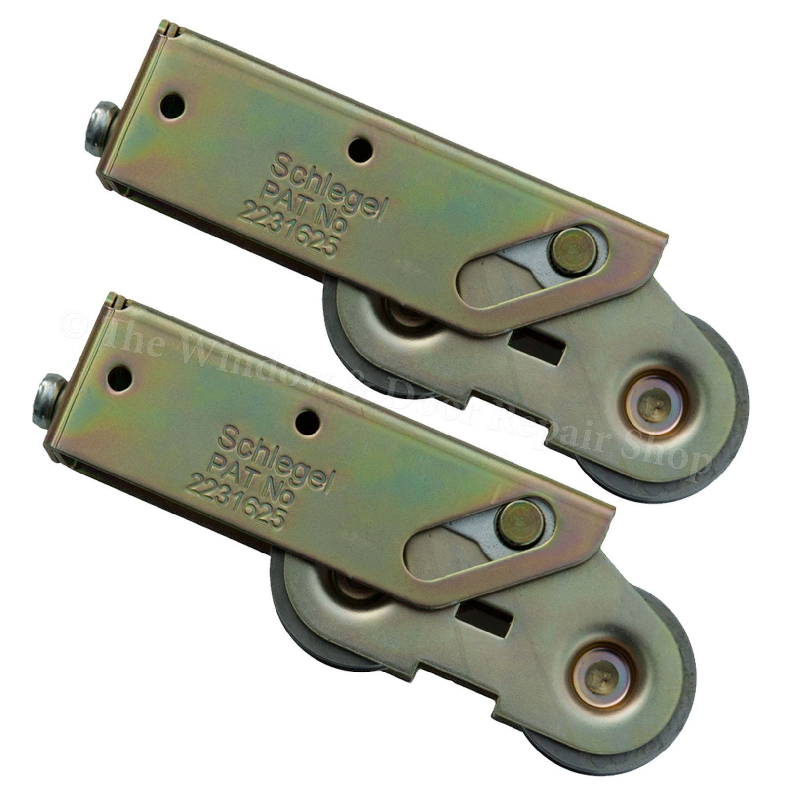 Pair Schlegel Tandem Patio Door Wheels Sliding Roller