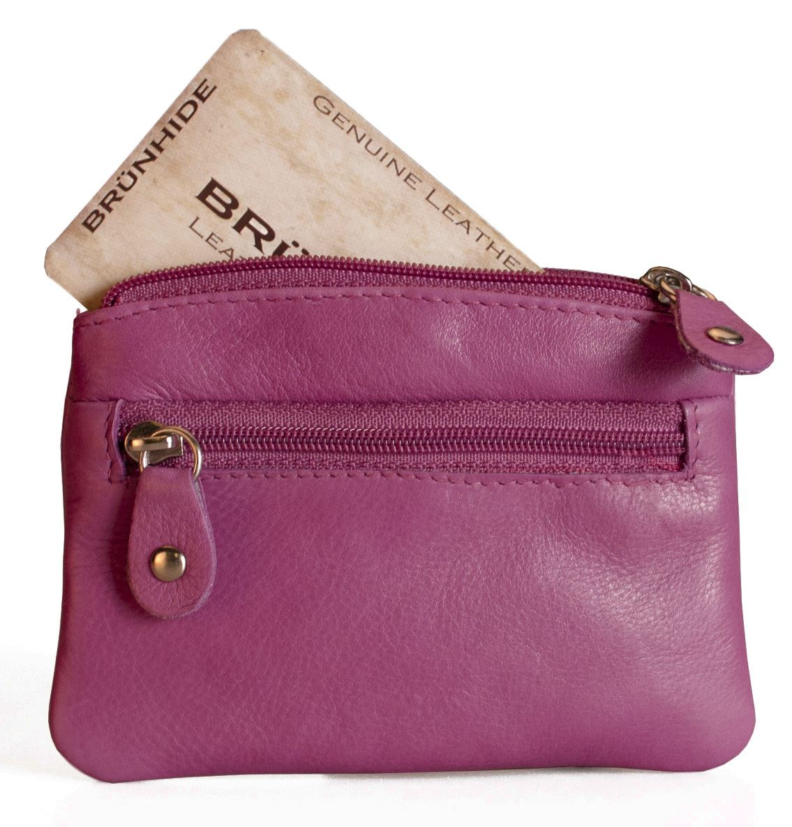 Brunhide Ladies Small Leather Coin Purse Credit Card Amp Key