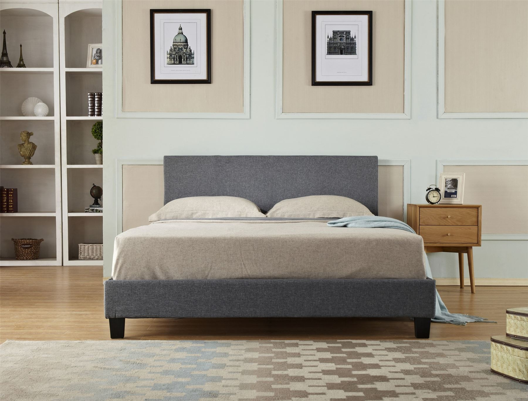 Modern Designer 4ft6 Double Amp 5ft King Size Fabric Beds