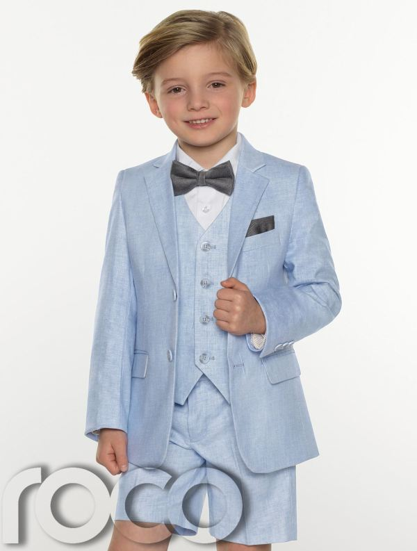 Boys Linen Short Suit