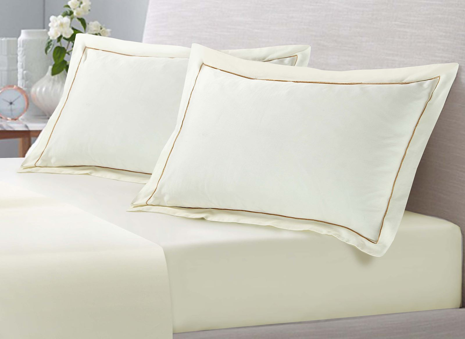 Luxury 100 Egyptian Cotton Striped Satin Duvet Cover