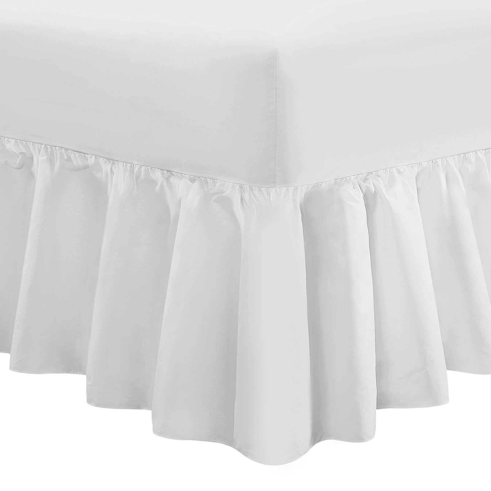 Percale T200 Extra Deep 16 100 Egyptian Cotton Frilled