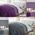 Floral Dandelion Paloma Duvet Quilt Cover Purple Grey Bedding Set Double King Ebay