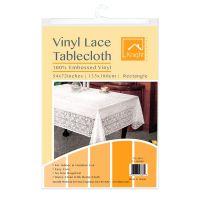 Vintage Lace PVC Tablecloth Vinyl Waterproof Embossed ...