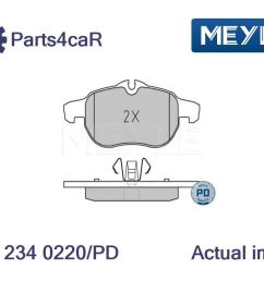 details about new brake pad set disc brake for vauxhall saab opel fiat vectra b hatchback [ 1055 x 792 Pixel ]