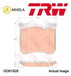 details about brake pad set disc brake for bmw x5 f15 f85 n63 b44 b n57 d30 c n57 d30 a trw [ 1143 x 1210 Pixel ]