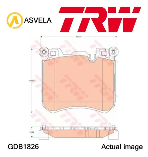 small resolution of details about brake pad set disc brake for bmw x5 f15 f85 n63 b44 b n57 d30 c n57 d30 a trw