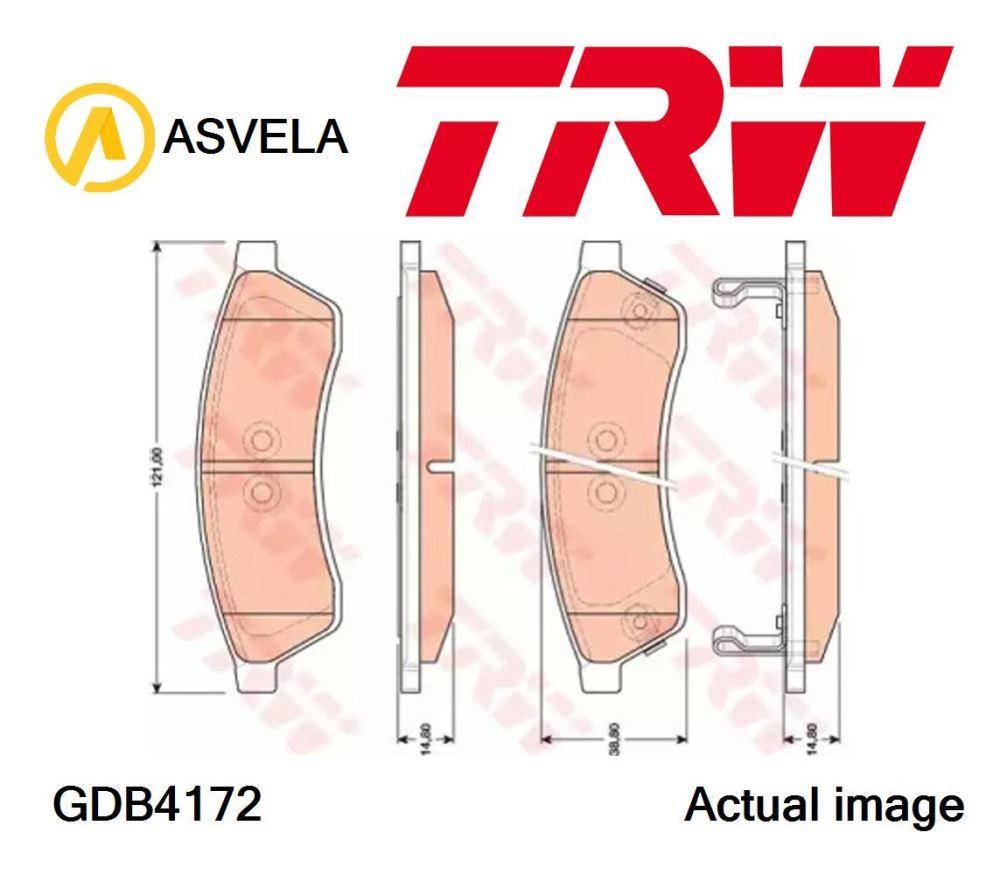 medium resolution of details about brake pad set disc brake for chevrolet daewoo chevrolet sgm epica kl1 x 20 d1