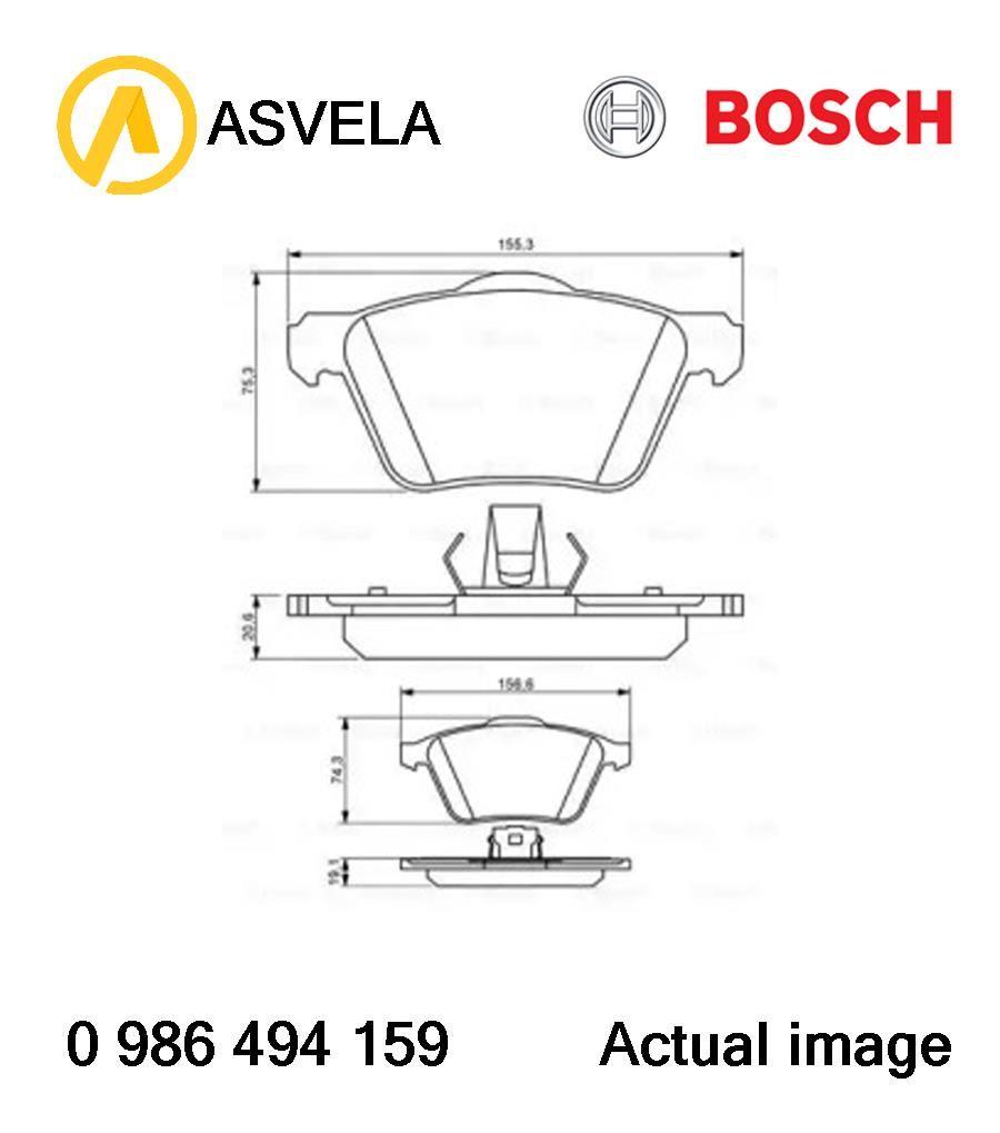 Brake Pad Set,disc brake for VOLVO XC90 I,D 5244 T18,B