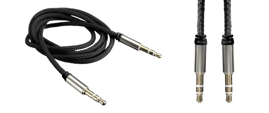 1M 3.5mm Mini Jack to Jack Male Aux Cable Audio Auxiliary