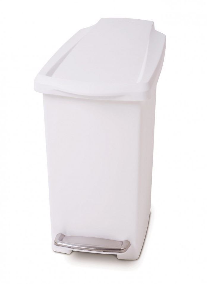 White 40l Kitchen Bin