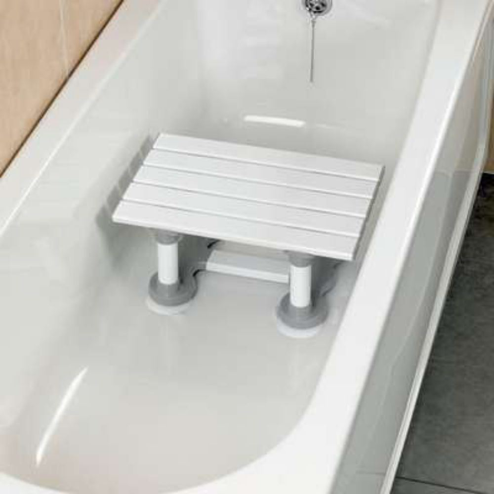 Savanah Slatted Bath Shower Seat Bathing Step Stool Secure