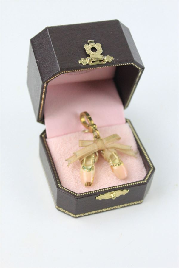 Designer Ysl 1980' Abstract Leaf Brooch & Juicy Couture