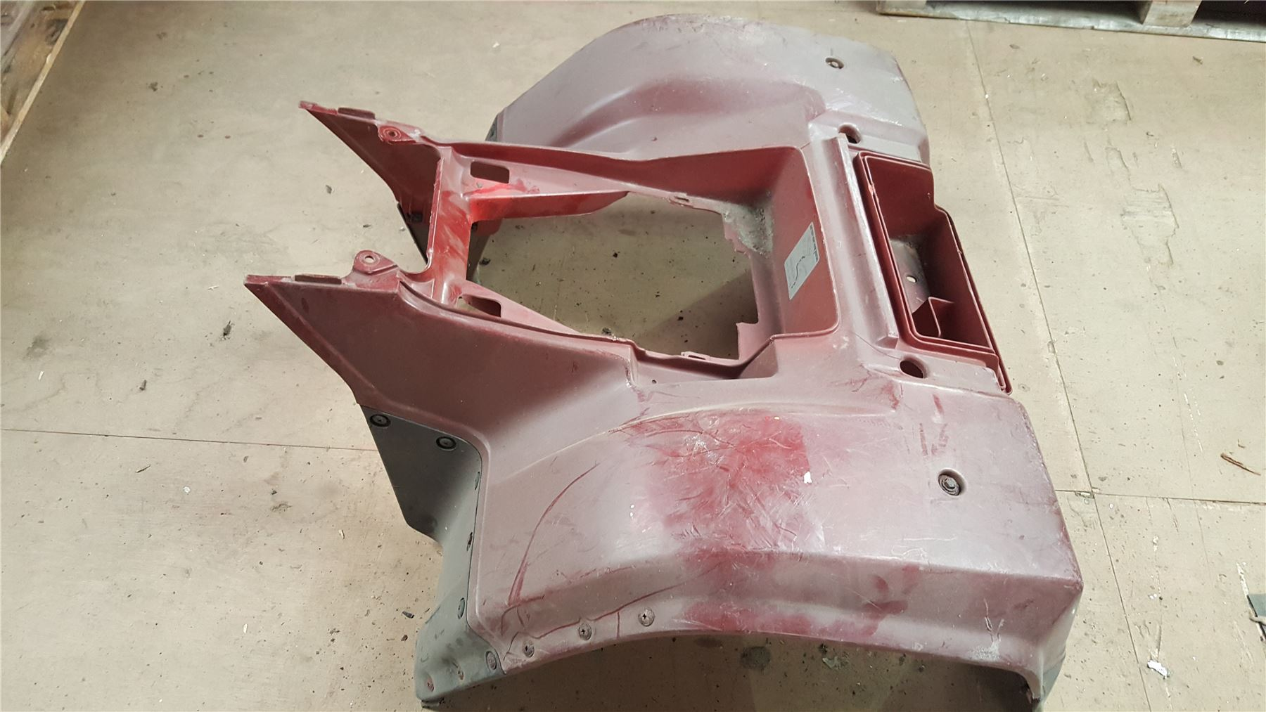 hight resolution of details about kawasaki klf 300 rear plastics atv fender