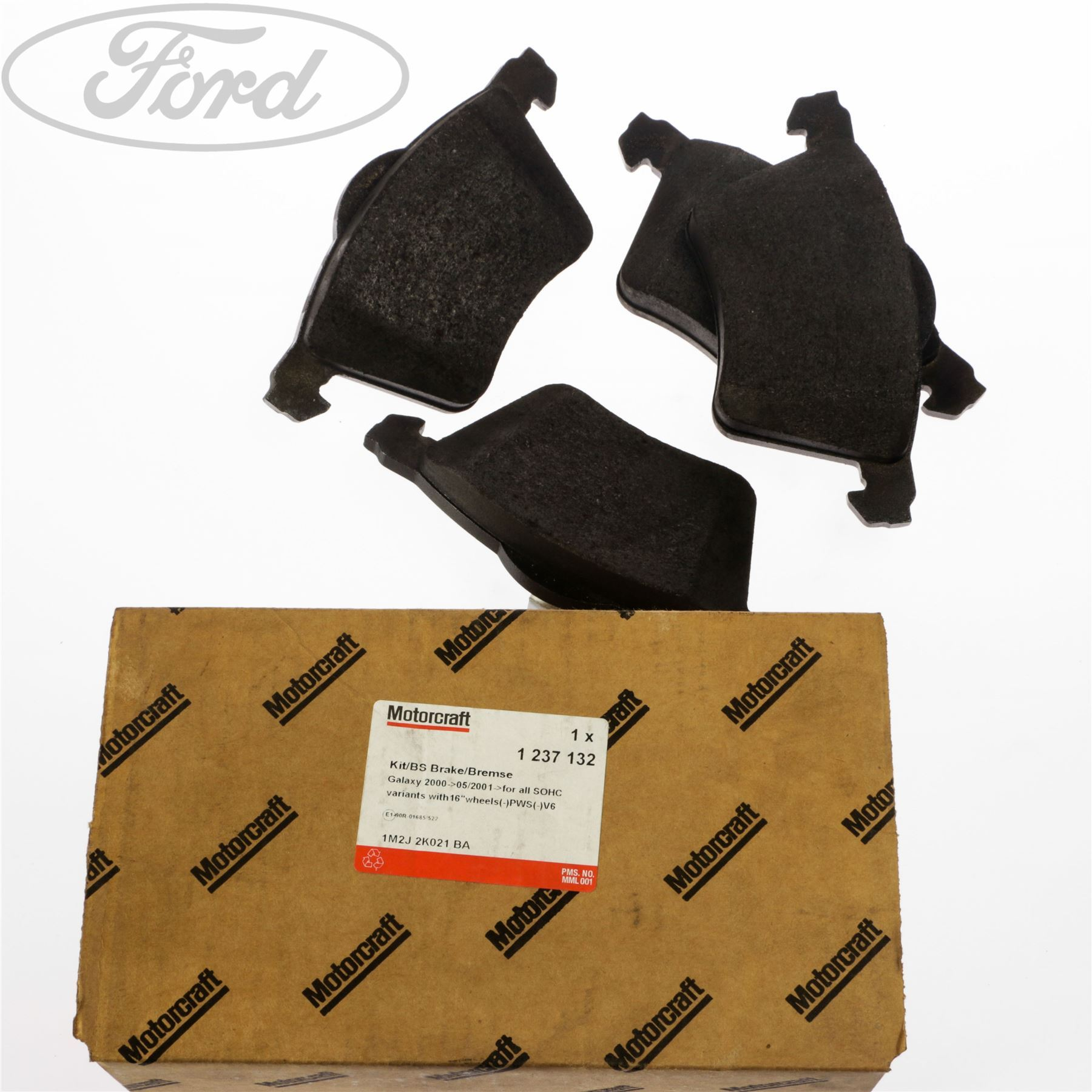 hight resolution of details about genuine ford galaxy mk1 2 0 2 3 front brake pads kit 115 145 bhp 00 06 1947391