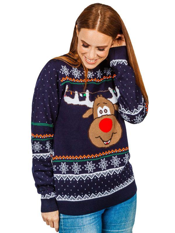 Unisex Christmas Jumpers Womens Xmas Snowman Reindeer Pub