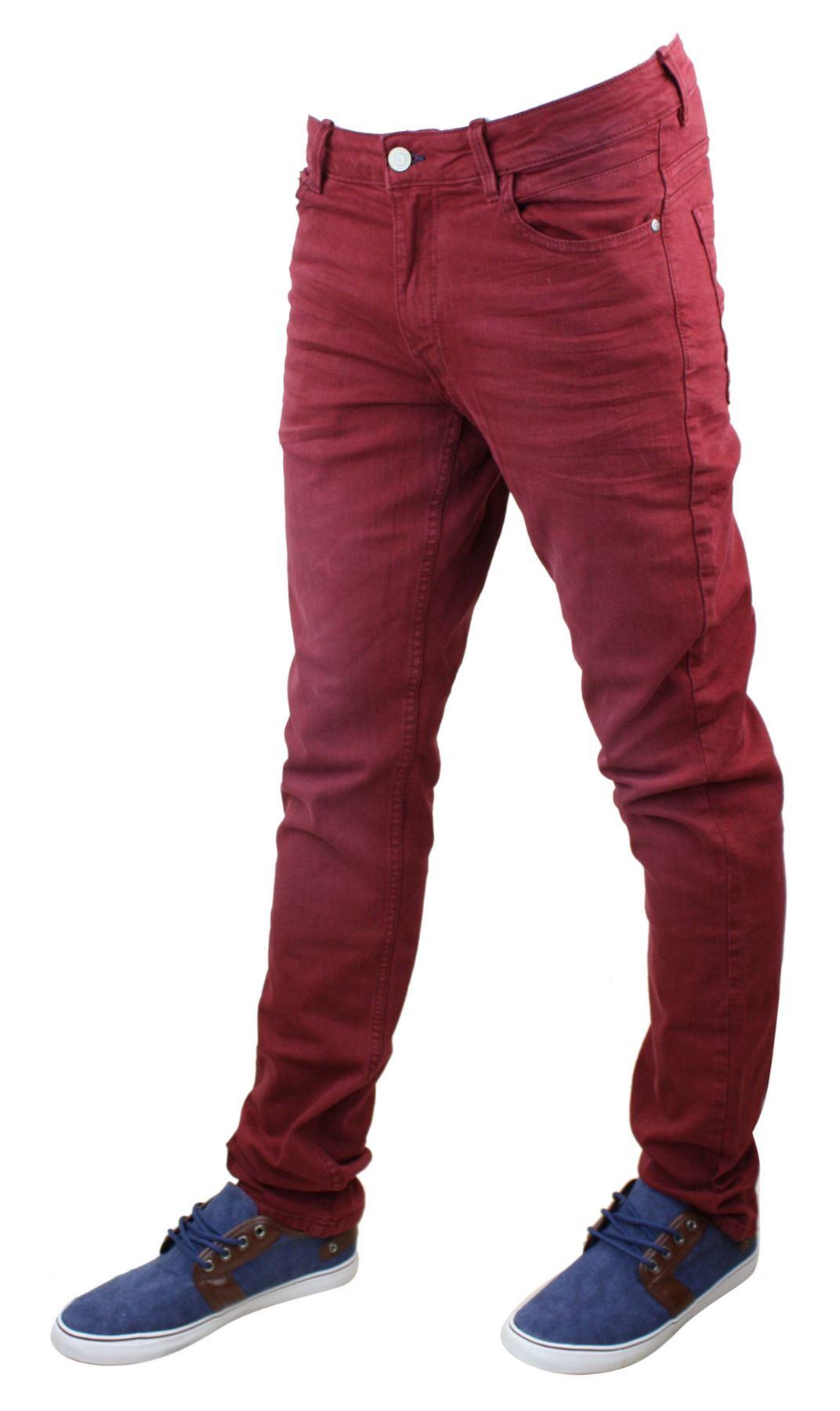 Mens Denim Skinny Stretch Slim Fit Jeans All Waist Sizes