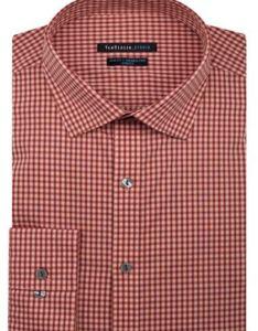 Mens dress shirt van heusen slim fit cotton also rich easycare long rh ebay