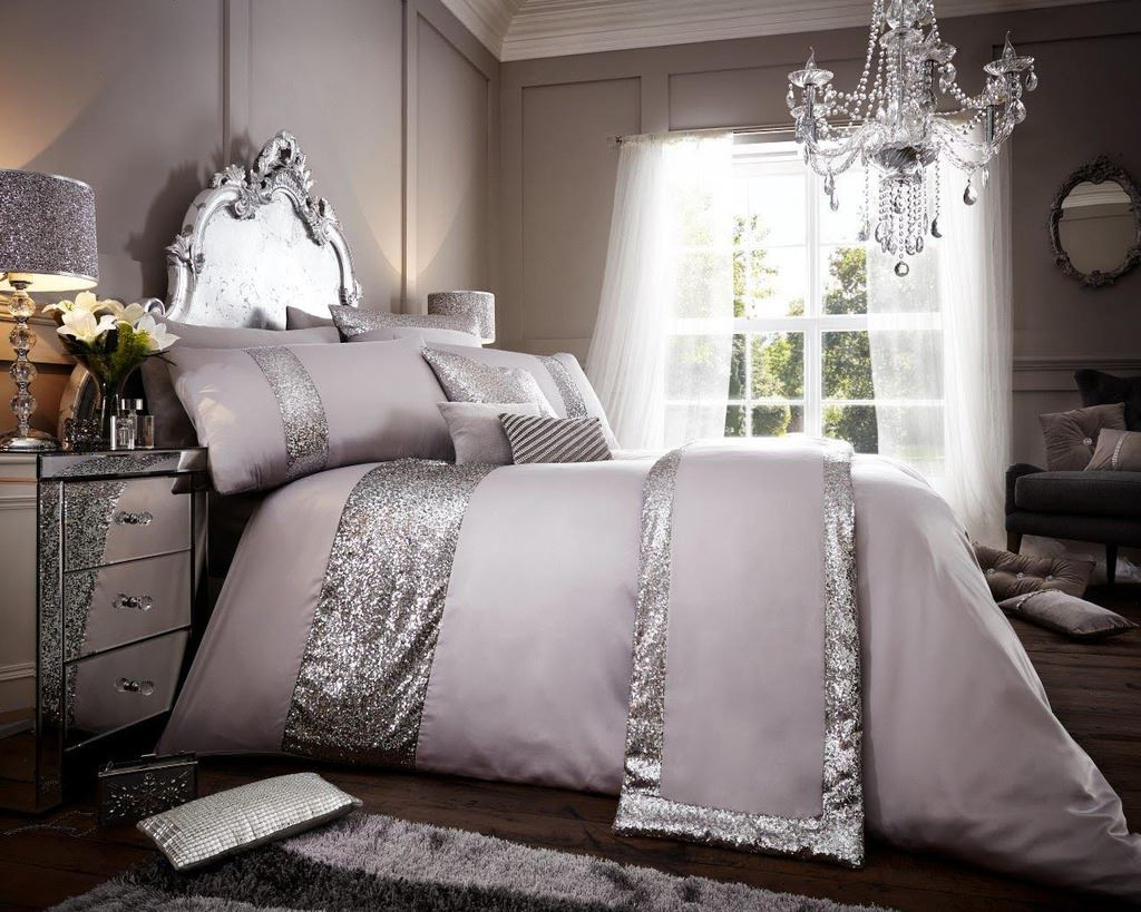 signature glamour housse couette ensemble de literie double king size quilt cover set