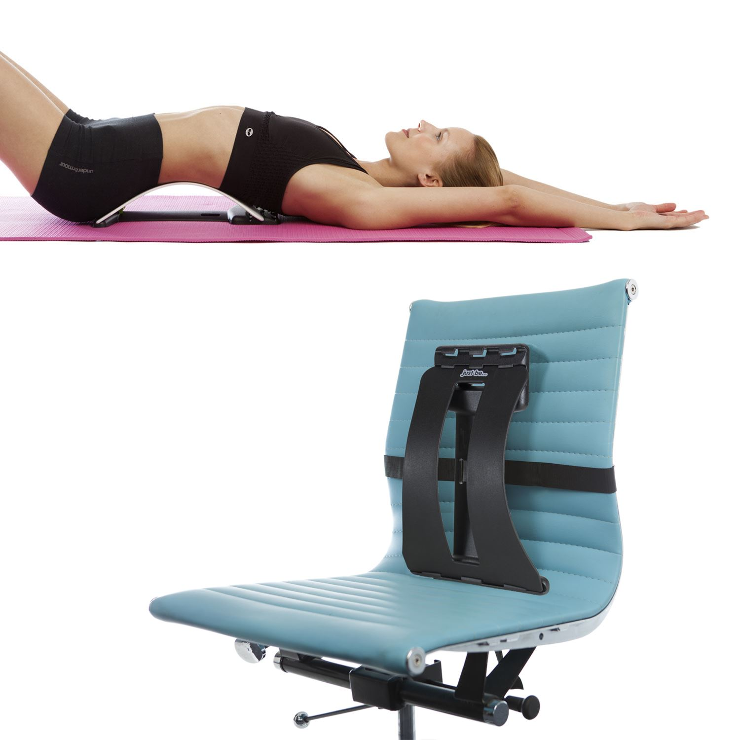 posture corrector office chair folding exercise back magic support stretcher lower