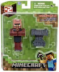 Official Minecraft 3 Inch 3 Villager Blacksmith Action Figure Jazwares eBay