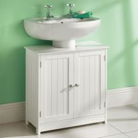 White Wooden 1 Drawer Bathroom Bedroom Cabinet Shelving ...
