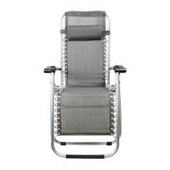 Reclining Deck Chair Asda Wall Hugger Leather Recliner Chairs Folding Zero Gravity Sun Lounger Garden