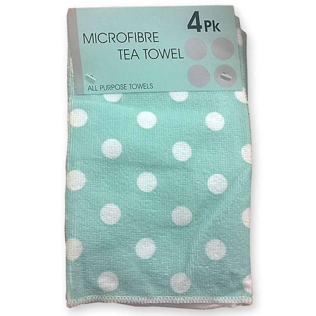 kitchen tea towels light pendants for 4 pack microfibre so soft secret
