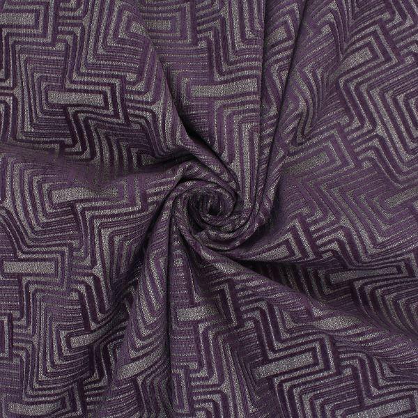Aztec Art Deco Geometric Chenille Raised Velvet Curtain
