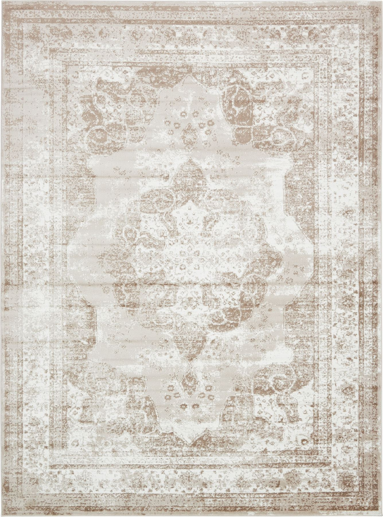 Transitional Large Persian Design Area Rug Faded Small