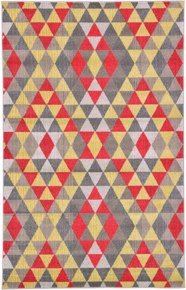 Geometric Modern Area Rug Contemporary Colorful Multi