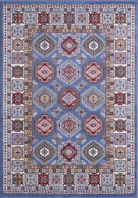 Geometric Design Persian Rug Red Blue Cream Oriental ...