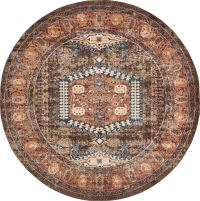 Traditional Large Faded Persian Design Area Rug Small ...