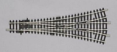 PIKO HO SCALE CODE 100 THREE WAY SWITCH W3 15° & 15°/R9