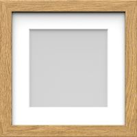 Box Picture Photo Frame with Mount Wood effect Black White