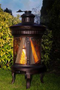WROUGHT IRON Garden Wood Burner Log Burner Chimenea ...