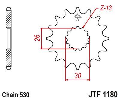 JT- Front Drive Sprocket JTF1180 19t fits Triumph 1050