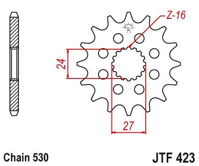 JT- Front Sprocket JTF423 18t fits Suzuki GSX-R1300 R