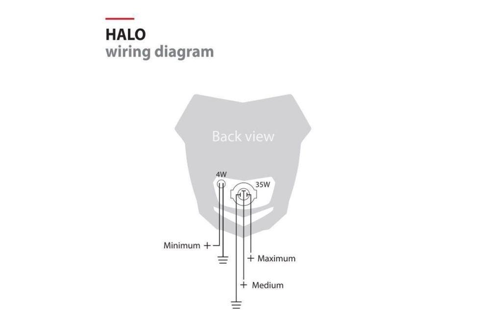 medium resolution of polisport halo headlight fairing white fits husqvarna 510