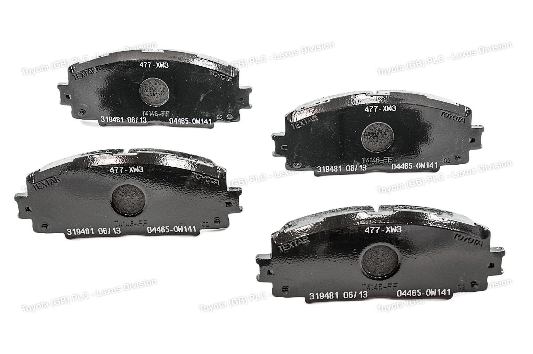 Genuine Lexus CT200H Car Replacement Brake Pads W141