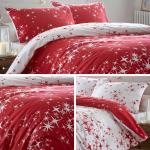 Red Duvet Covers Stars Print Flannelette Brushed Cotton Quilt Cover Bedding Sets Ebay