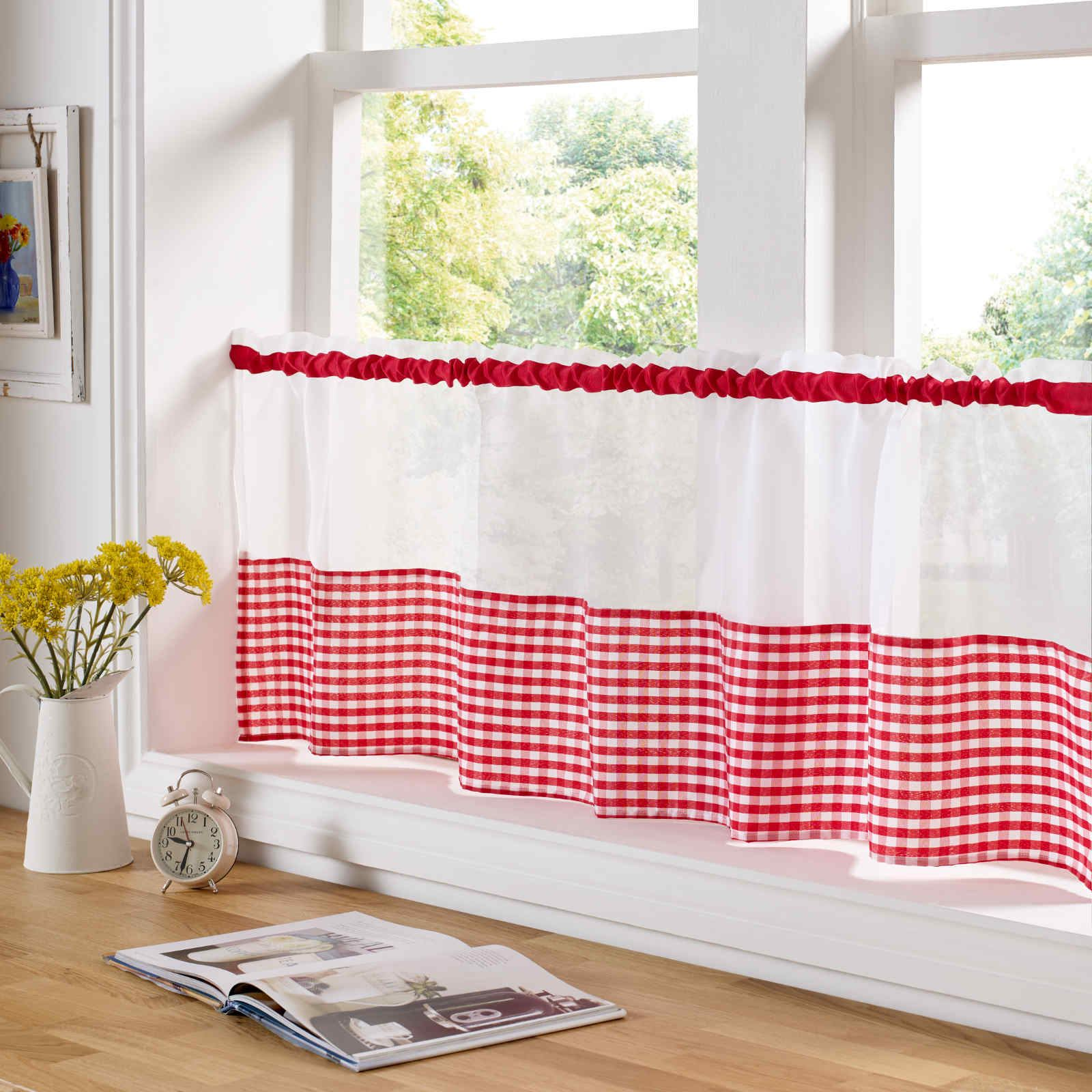country style kitchen curtains l shaped rug gingham curtain pair window drapes