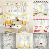 Ready Made Kitchen Window Curtains | Pelmets & Seat Pads ...