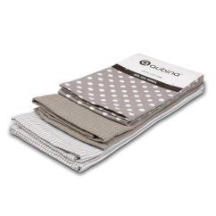 Kitchen Tea Towels Remodeling Manassas Va Set Of 3 Polka Dot Stripe Dish