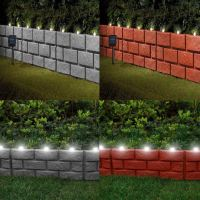 Instant Brick Effect Border Lawn Edging with LED Lights ...
