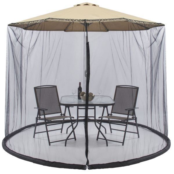 Patio Picnic 7.5 Ft Umbrella Table Screen Enclosure