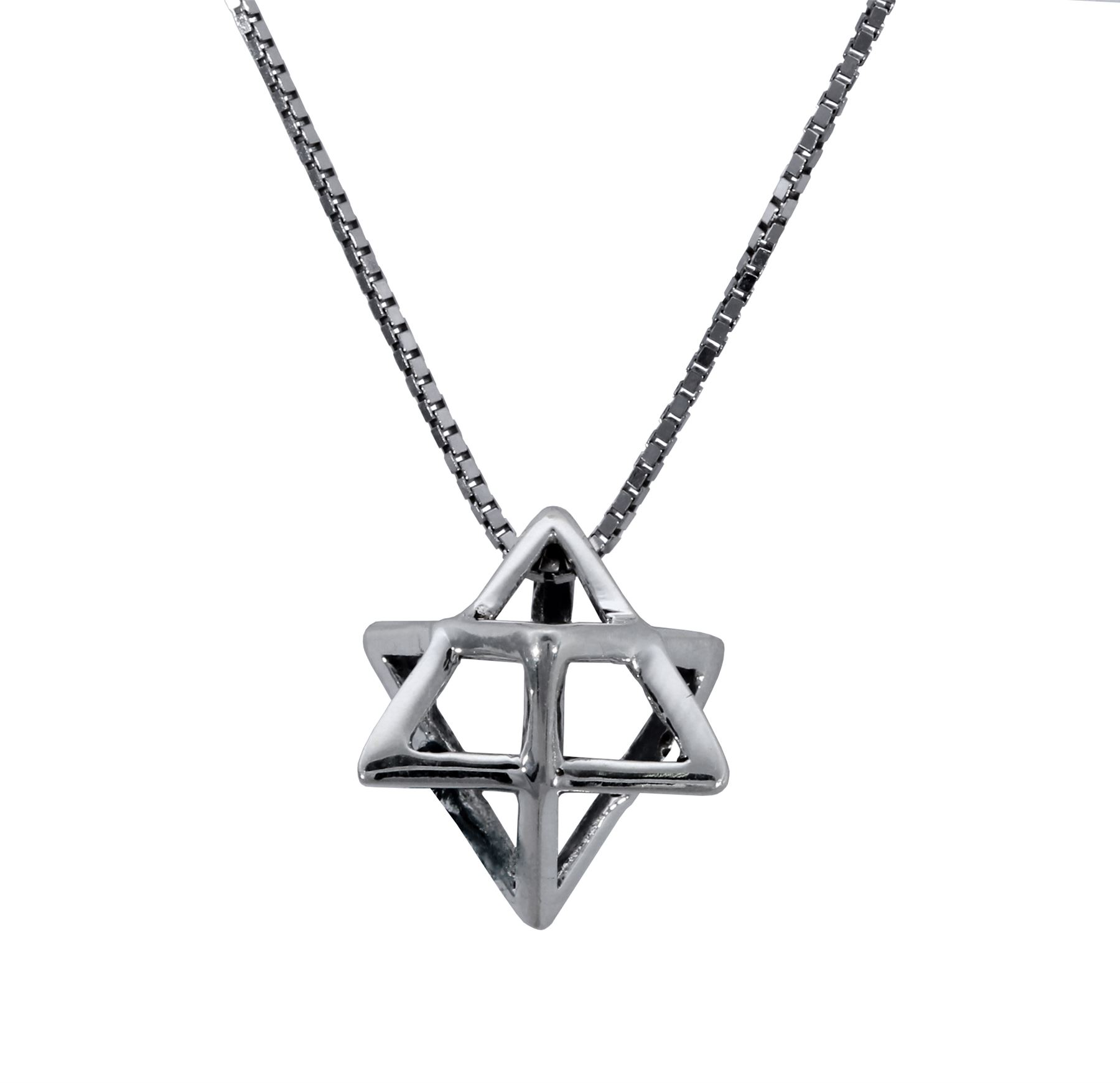 925 sterling Silver Star of David Merkava Lucky charm holy