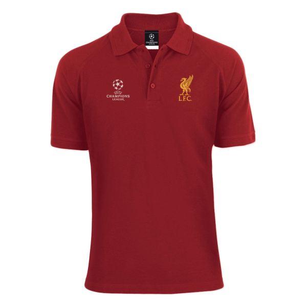 Liverpool Fc Red Mens Champions League Polo T-shirt Lfc